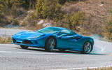 Ferrari F8 Tributo 2019 road test review - drifting