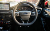 Ford Focus ST-line X 2019 road test review - steering wheel