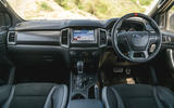 Ford Ranger Raptor 2019 road test review - dashboard