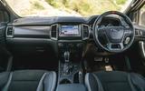 Ford Ranger Raptor 2019 road test review - dashboard
