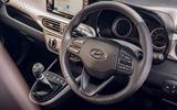 Hyundai i10 2020 road test review - steering wheel