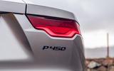 Jaguar F-Type 2020 road test review - rear lights