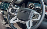Land Rover Defender 2020 road test review - steering wheel