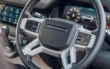 Land Rover Defender 2020 road test review - steering wheel