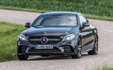 Mercedes-AMG C43 Coupe 2018 road test review cornering front