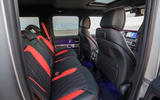 Mercedes-AMG G63 2018 review rear seats
