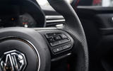 MG 5 SW EV 2020 Road test review - steering wheel
