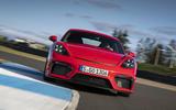 Porsche 718 Cayman GT4 2019 road test review - track nose