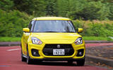 Suzuji Swift Sport Japan-spec review cornering front