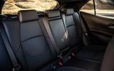 Toyota Corolla hybrid hatchback 2019 road test review - rear seats