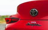 Toyota GR Supra 2019 road test review - rear badge