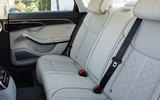 Audi S8 2020 road test review - rear seats