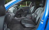BMW 1 Series 118i 2019 road test review - front seats