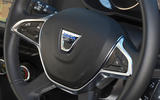 Dacia Duster 2018 road test review steering wheel