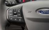 Ford Fiesta Active 2018 road test review steering wheel cruise buttons