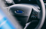 15 Ford Puma ST 2021 road test review steering wheel