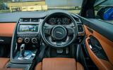 Jaguar E-Pace review dashboard