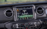 Jeep Wrangler 2019 road test review - infotainment offroad