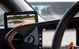 McLaren Speedtail 2020 UK first drive review - wing mirror monitor