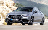 Mercedes-AMG CLA 45 S 2019 road test review - cornering front