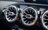 Mercedes-Benz A250e 2020 road test review - air vents