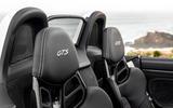 Porsche 718 Boxster GTS 4.0 2020 road test review - seat details