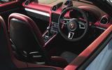 Porsche 718 Spyder 2020 road test review - cabin