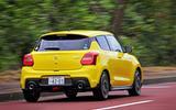 Suzuji Swift Sport Japan-spec review cornering rear