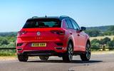 Volkswagen T-Roc 2019 road test review - cornering rear