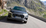 Audi SQ8 2019 road test review - on the road nose