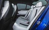 BMW M5 2018 review rear seats