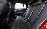 BMW X4 2018 road test review rear seats