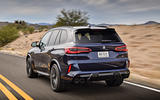 BMW X5 M Competition 2020 road test review - on the road rear