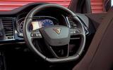 Cupra Ateca 2019 road test review - steering wheel