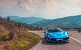 Ferrari F8 Tributo 2019 road test review - cornering front