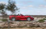 Ferrari Portofino review on the road side