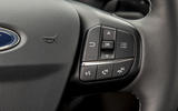 Ford Fiesta Active 2018 road test review steering wheel infotainment buttons