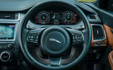Jaguar E-Pace review steering wheel