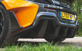 McLaren 600LT Spider 2019 road test review - rear splitter
