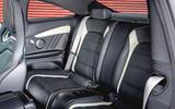Mercedes-AMG C63 Coupé 2019 road test review - rear seats