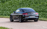 Mercedes-AMG C43 Coupe 2018 road test review cornering rear