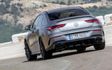 Mercedes-AMG CLA 45 S 2019 road test review - cornering rear
