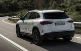 Mercedes-Benz GLA 2020 road test review - on the road rear