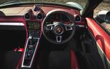 Porsche 718 Spyder 2020 road test review - steering wheel