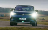 16 volkswagen id 4 2021 uk first drive review cornering front