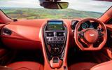 Aston Martin DBS Superleggera 2018 road test review - dashboard