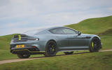 Aston Martin Rapide AMR 2019 first drive review - cornering rear