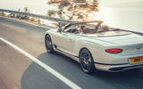 Bentley Continental GTC 2019 first drive review - on the road rear