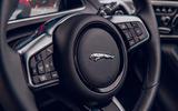 Jaguar F-Type 2020 road test review - steering wheel