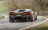 17 lamborghini sian 2021 uk first drive review cornering rear